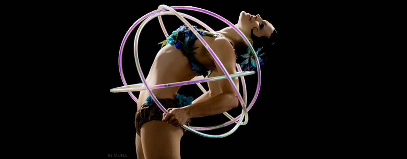 Spiral makes shapes with hoops