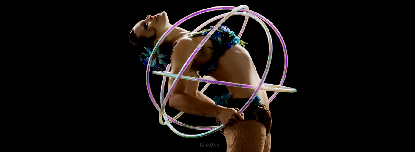 Spiral creates shapes with hoops